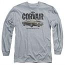 Chevy Long Sleeve Shirt Retro Corvair Sports Grey Tee T-Shirt