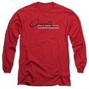 Chevy Long Sleeve Shirt Retro Stingray Red Tee T-Shirt