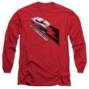 Chevy Long Sleeve Shirt Split Window Stingray Red Tee T-Shirt
