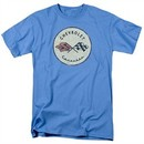 Chevy Shirt Old Vette Carolina Blue T-Shirt