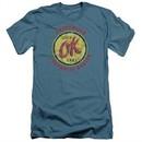 Chevy Slim Fit Shirt OK Used Cars Slate T-Shirt