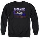 Chevy Sweatshirt 85 El Camino Adult Black Sweat Shirt
