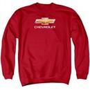 Chevy Sweatshirt Bow Tie Adult Red Sweat Shirt