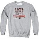 Chevy Sweatshirt Car Of The Year Adult Sports Grey Sweat Shirt