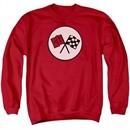 Chevy Sweatshirt Chevrolet 2nd Gen Vette Logo Adult Red Sweat Shirt