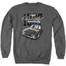 Chevy Sweatshirt Chevrolet Classic Camaro Adult Charcoal Sweat Shirt