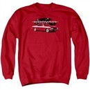 Chevy Sweatshirt Corvair Spyda Coupe Adult Red Sweat Shirt