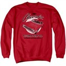 Chevy Sweatshirt Retro Camaro Adult Red Sweat Shirt