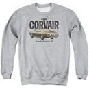 Chevy Sweatshirt Retro Corvair Adult Sports Grey Sweat Shirt