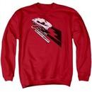 Chevy Sweatshirt Split Window Stingray Adult Red Sweat Shirt
