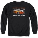 Chevy Sweatshirt ZO6 checkered Adult Black Sweat Shirt