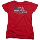 Chevy Womens Shirt See The USA Chevrolet Red T-Shirt