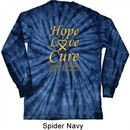 Childhood Cancer Awareness Hope Love Cure Long Sleeve Tie Dye