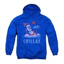 Chilly Willy Hoodie Sweatshirt Chillax Royal Blue Adult Hoody Sweat Shirt