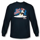 Chilly Willy Long Sleeve T-shirt TV Show Just Chillin Navy Tee Shirt