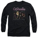 Cinderella Shirt Nobody's Fool Long Sleeve Black Tee T-Shirt