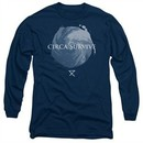 Circa Survive Long Sleeve Shirt Storm Navy Blue Tee T-Shirt