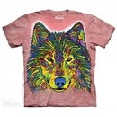 Colorful Wolf Shirt Tie Dye Adult T-Shirt Tee