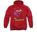 Cow & Chicken Hoodie Sweatshirt Al Rescate Red Adult Hoody Sweat Shirt