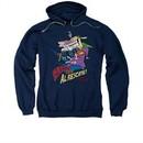 Cow & Chicken Hoodie Sweatshirt Super Cow Navy Adult Hoody Sweat Shirt