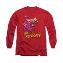 Cow & Chicken Shirt Al Rescate Long Sleeve Red Tee T-Shirt