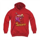 Cow & Chicken Youth Hoodie Al Rescate Red Kids Hoody