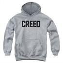 Creed Kids Hoodie Cracked Movie Logo Athletic Heather Youth Hoody