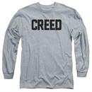 Creed Long Sleeve Shirt Cracked Movie Logo Athletic Heather Tee T-Shirt