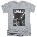 Creed Slim Fit V-Neck Shirt Movie Poster Athletic Heather T-Shirt