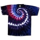 Tie Dye T-shirt Cranberry Swirl Adult Unisex Tee Shirt