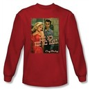 Cry Baby Long Sleeve T-shirt Movie Kiss Me Red Tee Shirt