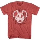 Danger Mouse Shirt Burst Heather Red T-Shirt