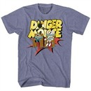 Danger Mouse Shirt Chair Strapped Heather Purple T-Shirt