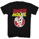 Danger Mouse Shirt Distressed Logo Black T-Shirt
