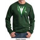 Dark Green Tuxedo Sweatshirt