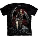 Death Wish Shirt Tie Dye Skull Rock Metal Biker T-shirt Adult Tee