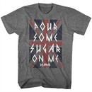 Def Leppard Shirt Pour Some Sugar On Me Dark Grey T-Shirt