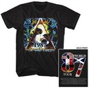 Def Leppard Shirt World Tour 87 Black T-Shirt