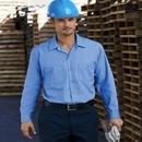 Dickies Work Shirt Long Sleeve Industrial Poplin