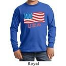 Distressed USA Flag Kids Long Sleeve Shirt