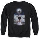 Divinity Sweatshirt Moon Child Adult Black Sweat Shirt