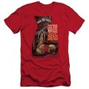 Doctor Mirage Slim Fit Shirt Talks To The Dead Red T-Shirt
