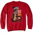 Doctor Mirage Sweatshirt Talks To The Dead Adult Red Sweat Shirt