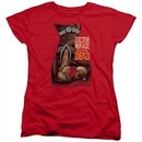 Doctor Mirage Womens Shirt Talks To The Dead Red T-Shirt