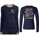 Dodge Guts Glory Ram Trucks (Front & Back) Ladies Long Sleeve
