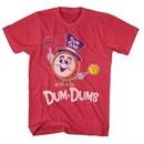 Dum Dums Shirt Drum Man Red Heather T-Shirt