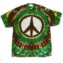 Earth Peace Sign Tie-Dye T-Shirt