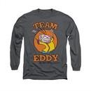 Ed, Edd N Eddy Shirt Long Sleeve Team Eddy Charcoal Tee T-Shirt