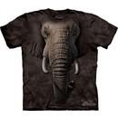 Elephant Shirt Tie Dye Face T-shirt Adult Tee