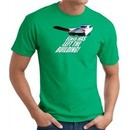 Elvis T-shirt Classic Rock King Left The Building Kelly Green Tee